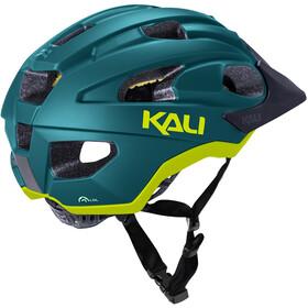 Kali Pace SLD Helm, matt teal/fluo yellow